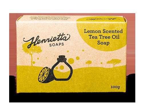 Lemon-scented-tea-tree-oil-soap-100g